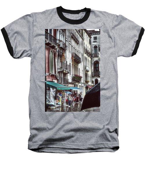Baseball T-Shirt featuring the photograph A Typical Venetian Day by Eduardo Jose Accorinti