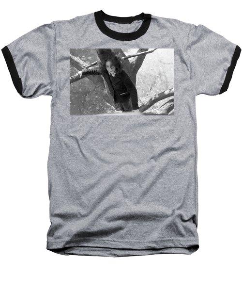 A Woman In A Tree, 1972 Baseball T-Shirt