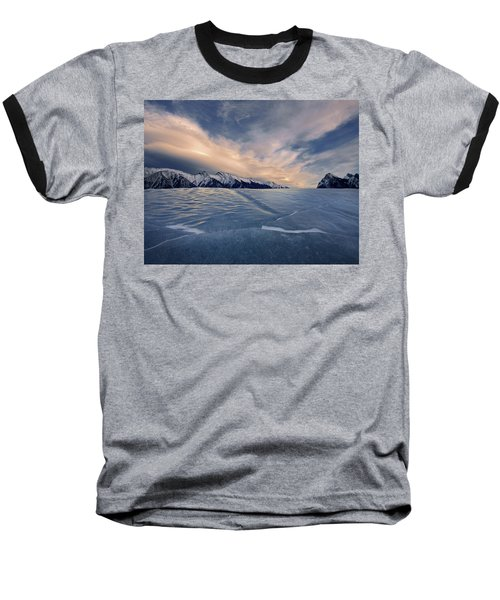 Abraham Lake Ice Wall Baseball T-Shirt