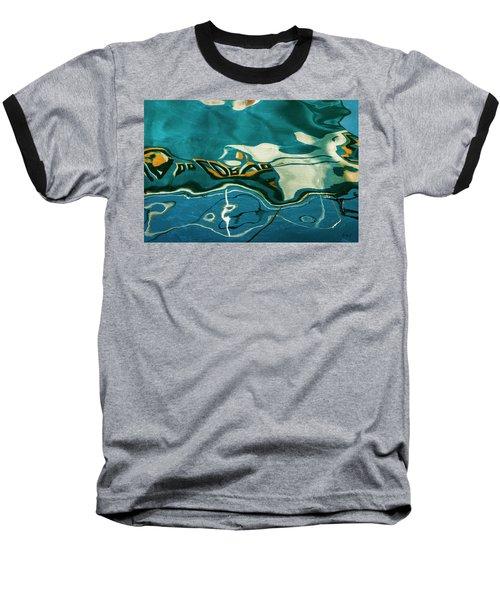 Baseball T-Shirt featuring the photograph Abstract Boat Reflection V Color by David Gordon