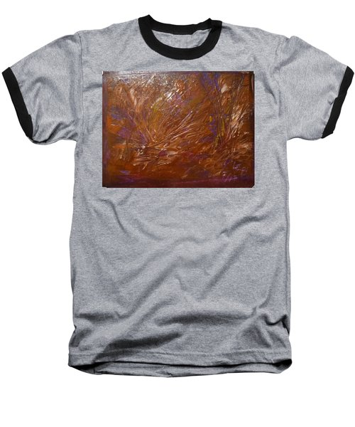 Abstract Brown Feathers Baseball T-Shirt