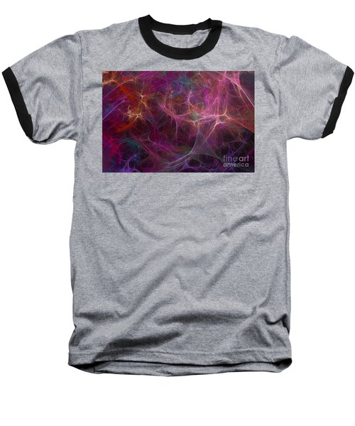 Abstract Colorful Fireworks Baseball T-Shirt