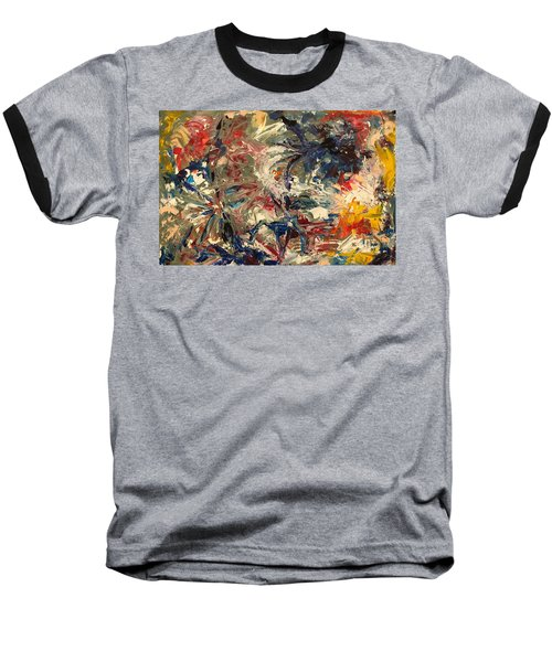 Abstract Puzzle Baseball T-Shirt