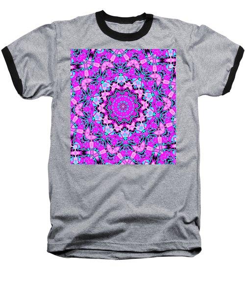 Abstract Spun Flower Baseball T-Shirt