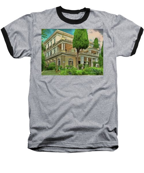 Baseball T-Shirt featuring the photograph Achilleion Palace Corfu by Leigh Kemp