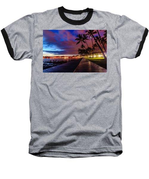 After Sunset At Kona Inn Baseball T-Shirt