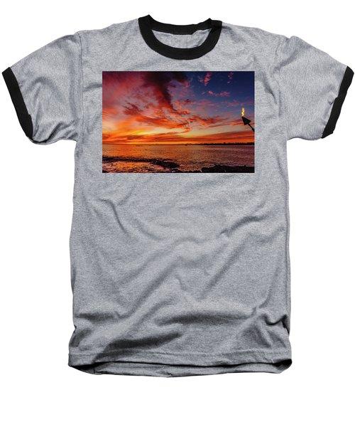After Sunset Colors At Kailua Bay Baseball T-Shirt