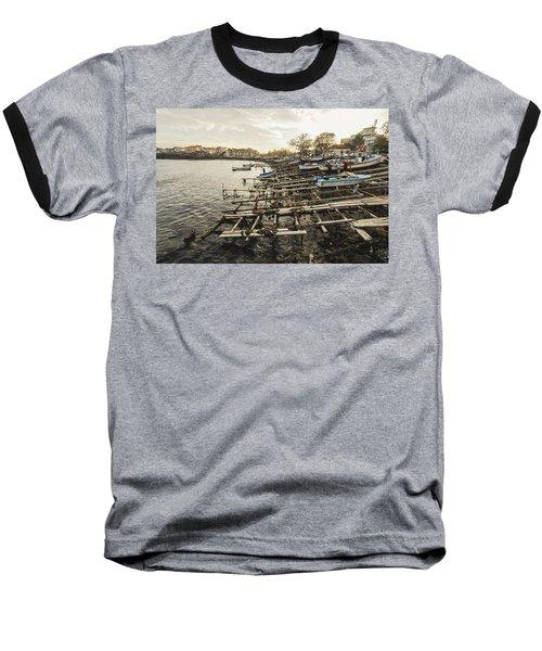 Ahtopol Fishing Town Baseball T-Shirt