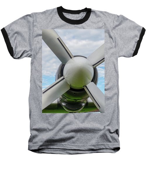 Baseball T-Shirt featuring the photograph Aircraft Propellers. by Anjo Ten Kate