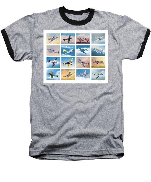 Airplane Poster Baseball T-Shirt