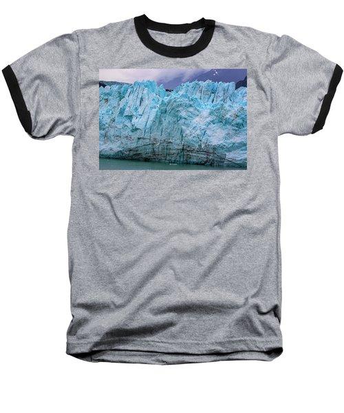 Alaskan Blue Glacier Ice Baseball T-Shirt