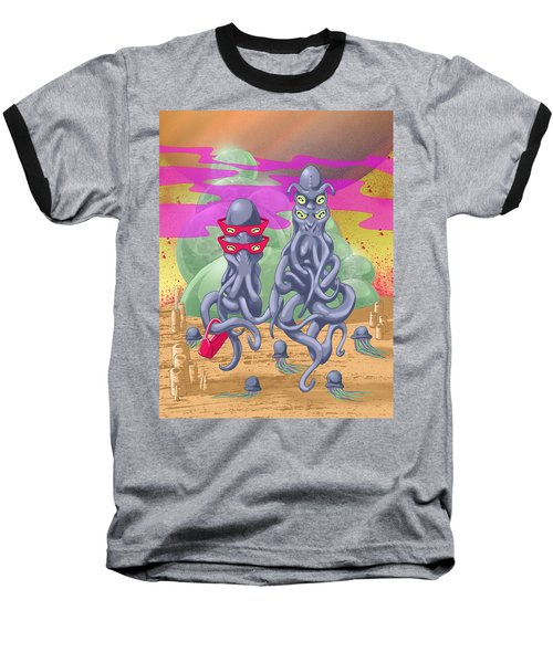 Alien Gothic Baseball T-Shirt