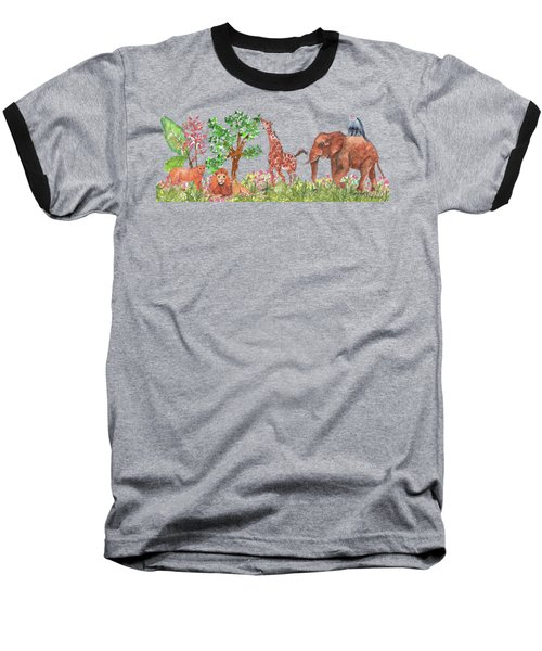All Is Well In The Jungle Baseball T-Shirt