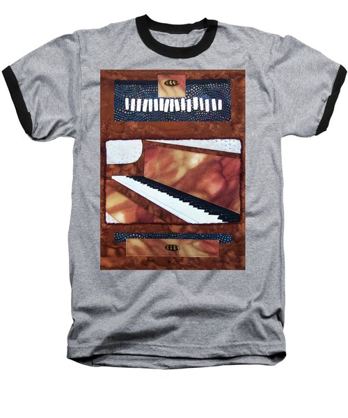 All That Jazz Piano Baseball T-Shirt