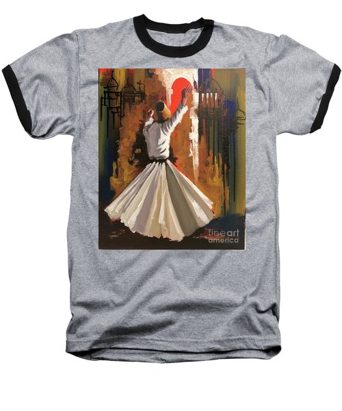 Baseball T-Shirt featuring the painting Allegiance  by Nizar MacNojia