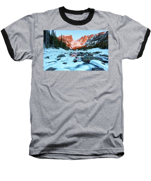 Alpenglow At Dream Lake Rocky Mountain National Park Baseball T-Shirt