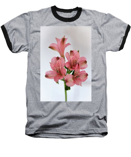 Alstroemeria Up Close Baseball T-Shirt