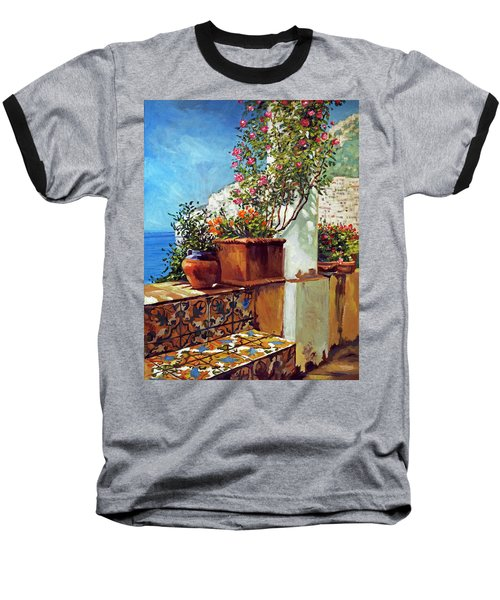 Amalfi Coast Impressions Baseball T-Shirt