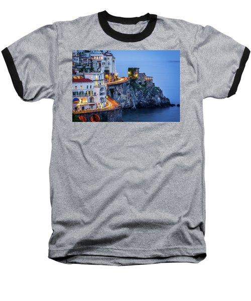 Amalfi Coast Italy Nightlife Baseball T-Shirt