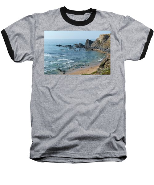 Amalia Beach From Cliffs Baseball T-Shirt