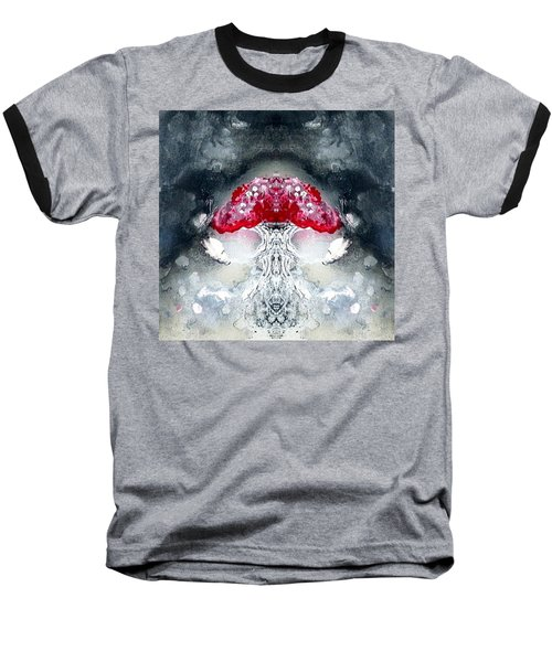 Baseball T-Shirt featuring the painting Amanita  by 'REA' Gallery