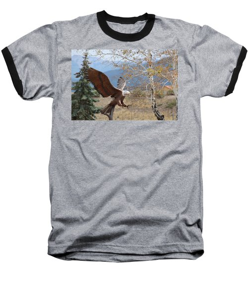 American Eagle In Autumn Baseball T-Shirt