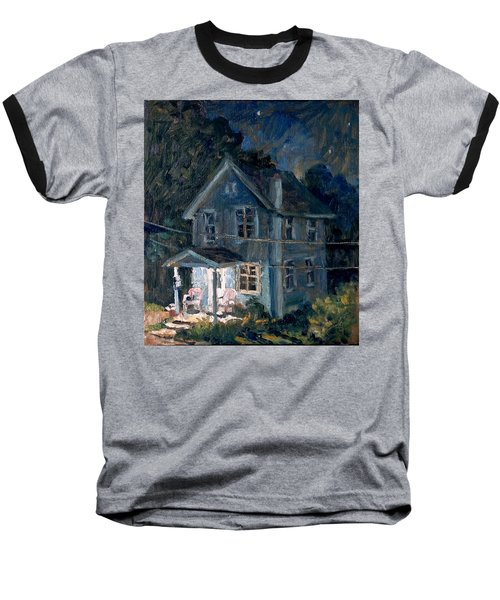 American Front Porch Nocturne Baseball T-Shirt