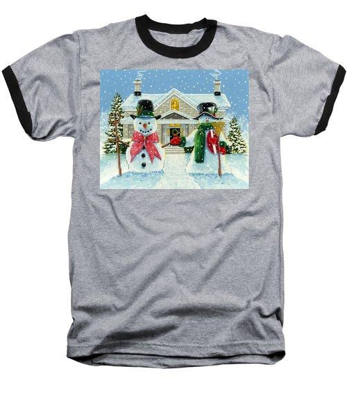 American Snowman Gothic Baseball T-Shirt