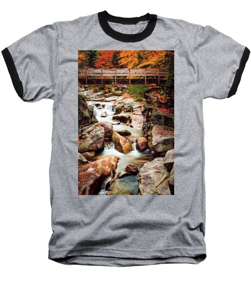 Ammonoosuc River, Autumn Baseball T-Shirt