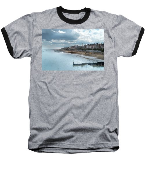 Baseball T-Shirt featuring the photograph An English Beach by Perry Rodriguez