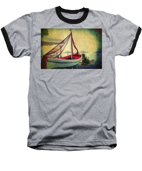 Baseball T-Shirt featuring the photograph an Old Boat by Milena Ilieva