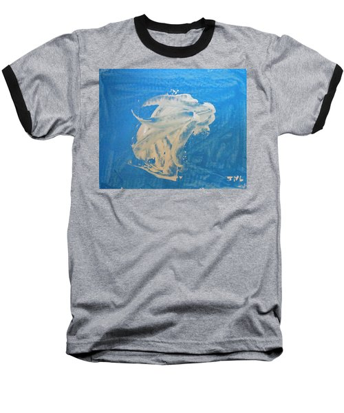 Angel And Dolphin Riding The Waves Baseball T-Shirt