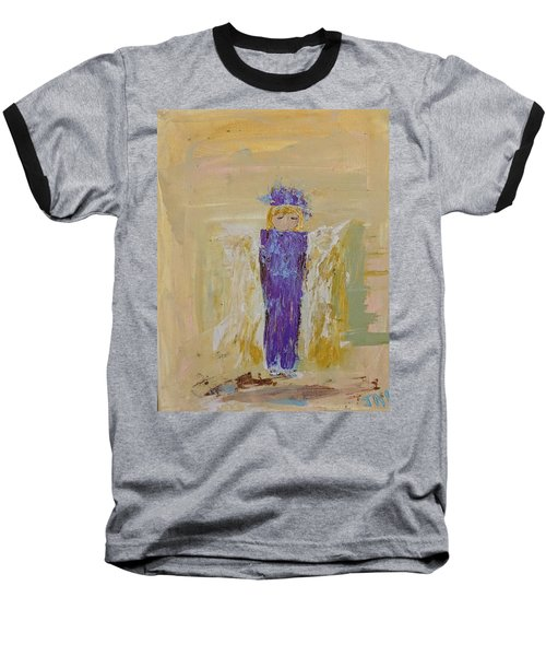Angel Girl With A Unicorn Baseball T-Shirt