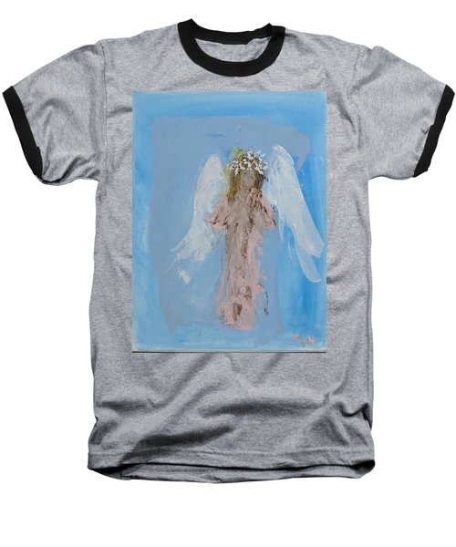 Angel With A Crown Of Daisies Baseball T-Shirt