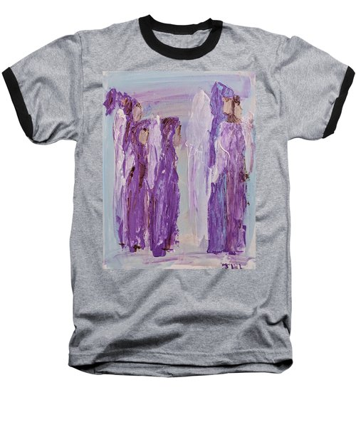 Angels In Purple Baseball T-Shirt
