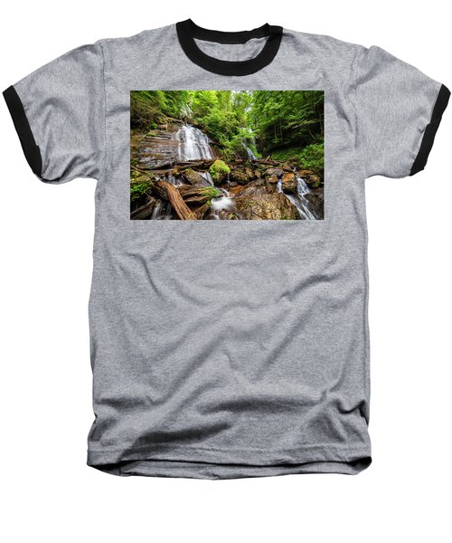 Baseball T-Shirt featuring the photograph Anna Ruby Falls by Andy Crawford
