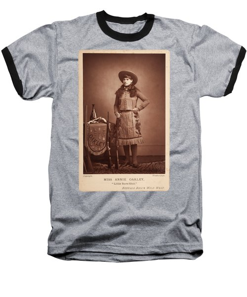 Annie-oakley-woodburytype-cabinet-card-c1890s Baseball T-Shirt