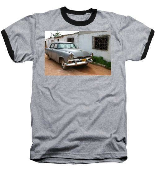 Antique Car Grey Cuba 11300501 Baseball T-Shirt