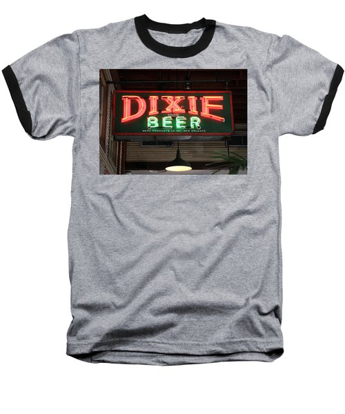 Antique Dixie Beer Neon Sign Baseball T-Shirt