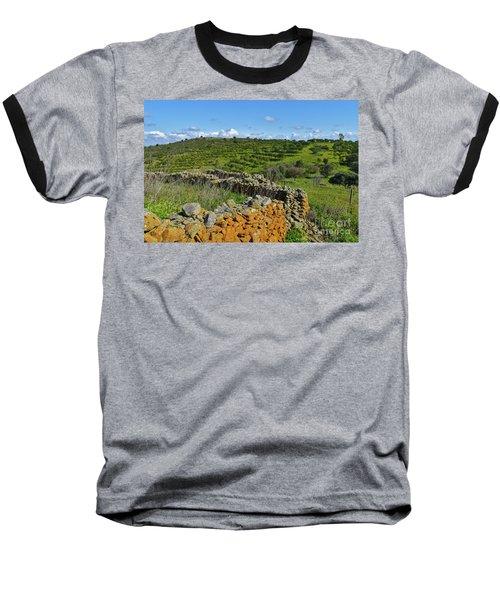 Antique Stone Wall Of An Old Farm Baseball T-Shirt