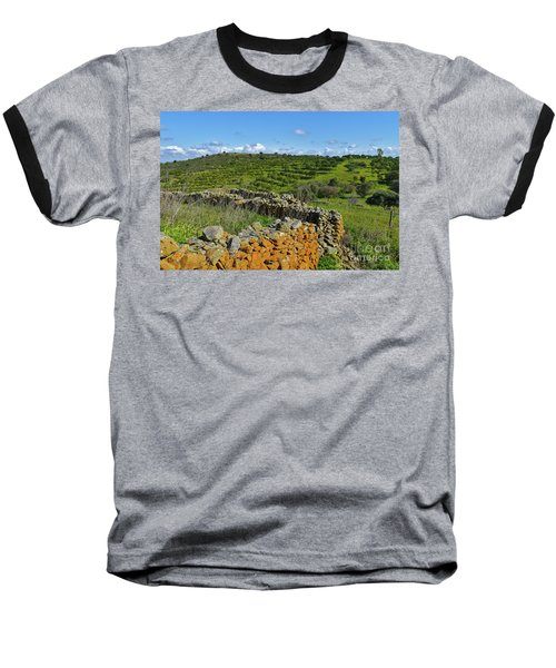 Antique Stone Wall Of An Old Farm Baseball T-Shirt