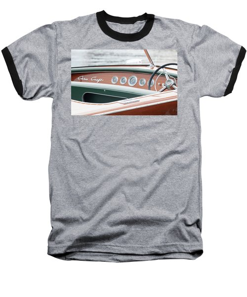 Antique Wooden Boat Dashboard 1306 Baseball T-Shirt