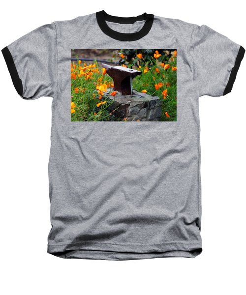 Anvil In The Poppies Baseball T-Shirt
