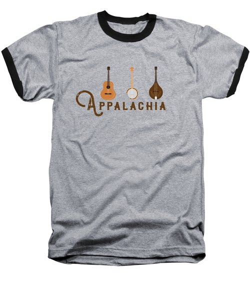 Appalachia Mountain Music White Mountains Baseball T-Shirt