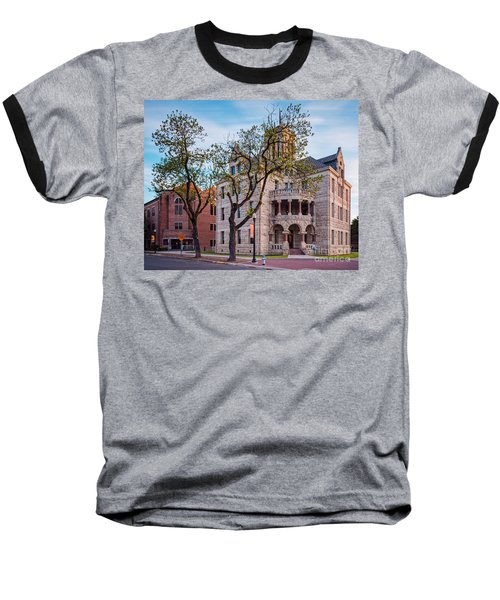 Architectural Photograph Of The Comal County Courthouse In Downtown New Braunfels Texas Hill Country Baseball T-Shirt