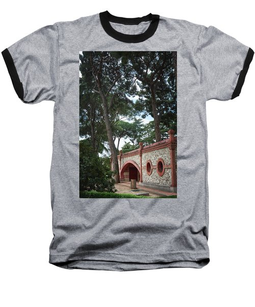 Architecture At The Gardens Of Cecilio Rodriguez In Retiro Park - Madrid, Spain Baseball T-Shirt