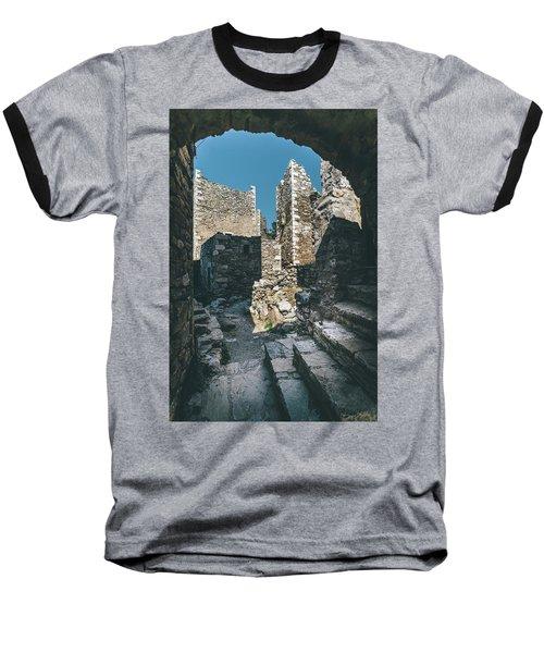 Architecture Of Old Vathia Settlement Baseball T-Shirt