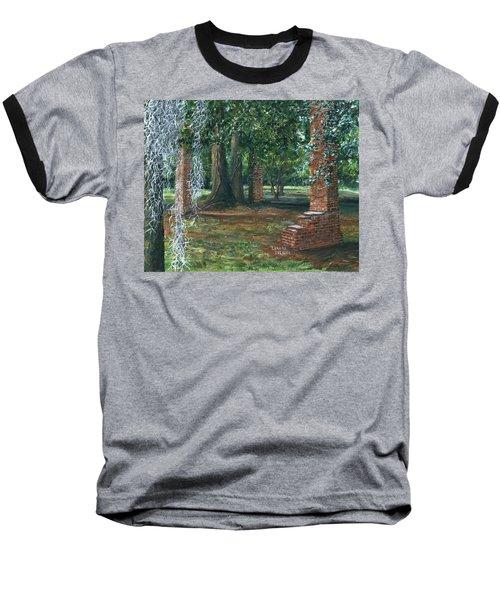 Ardoyne Ruins Near The Mansion, Houma, Louisiana Baseball T-Shirt