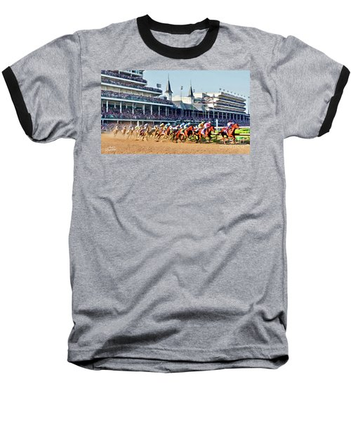Around The First Turn Baseball T-Shirt