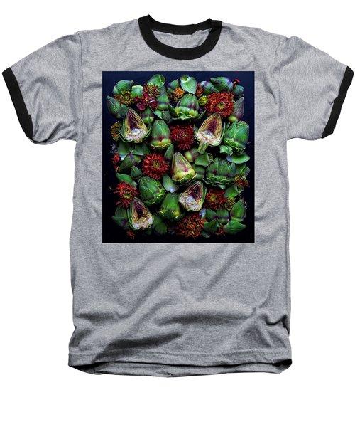 Artichoke Art Baseball T-Shirt